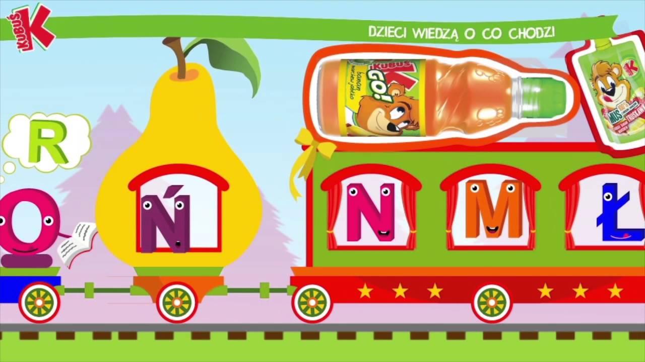 Kubuś – Alfabet – zabawa dla dzieci