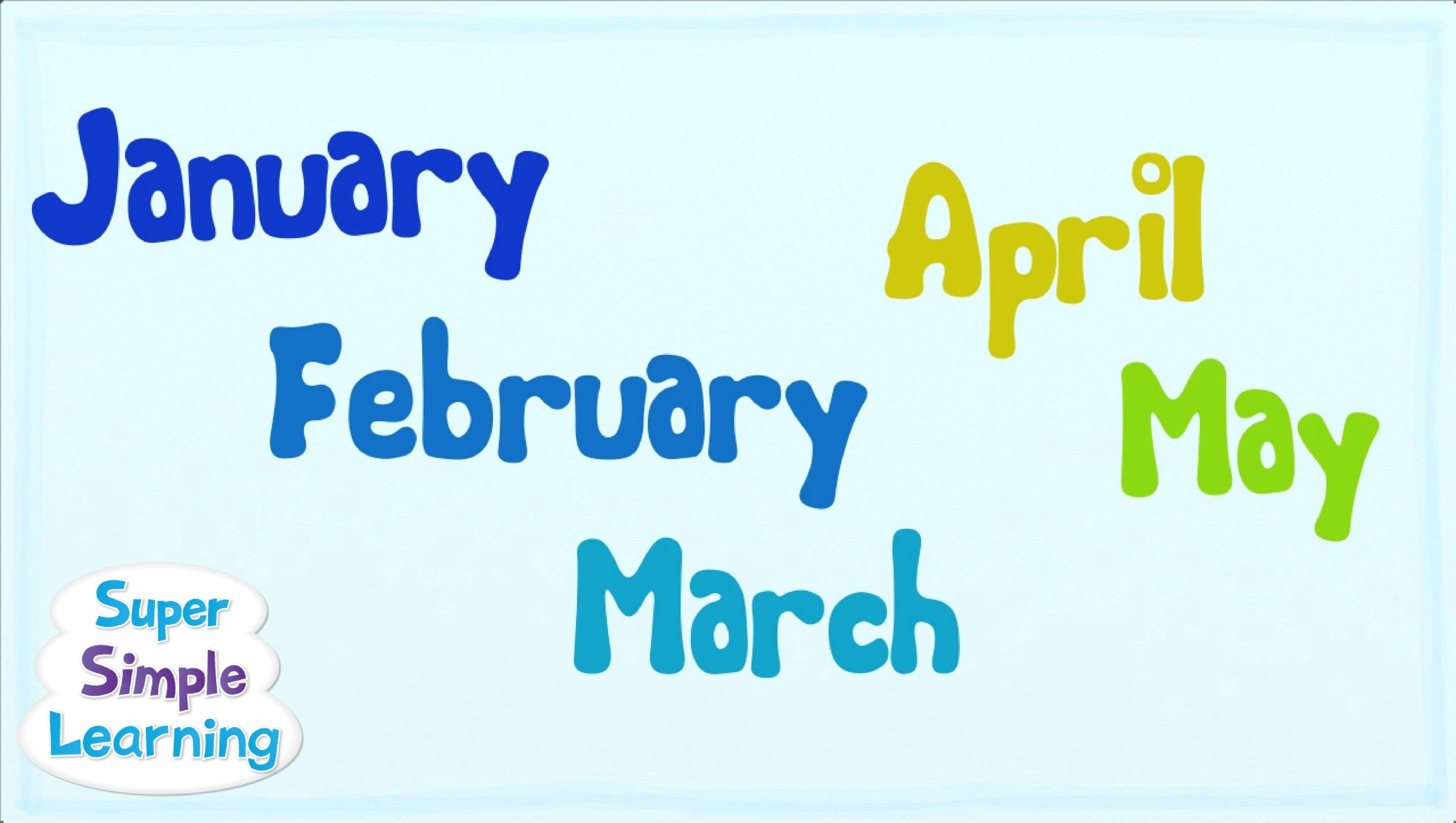The Months Chant | Super Simple Songs