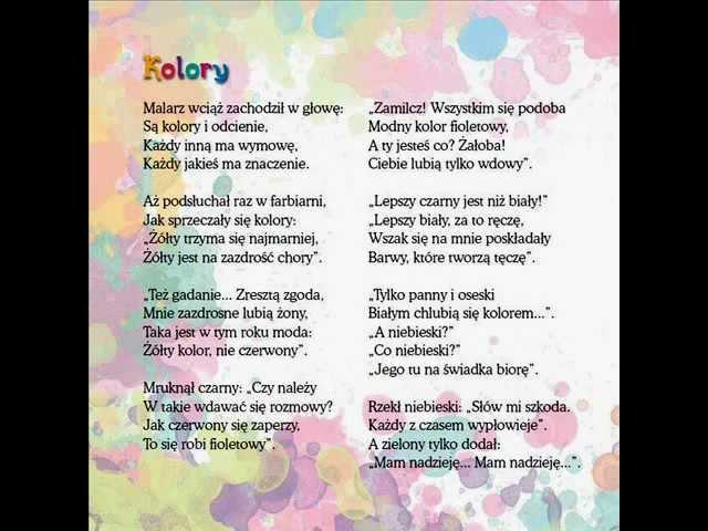 Wiersze dla dzieci – Jan Brzechwa – Kolory czyta Piotr Fronczewski