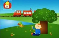 Książeczka kształtów : Prostokąt: wagonki, dla dzieci