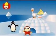 Książeczka kształtów – Półkąt: skrzydła pingwina, płetwy, dla dzieci