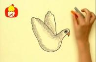 Koleżki na dłoni – Jednorożec i gołąbek, dla dzieci