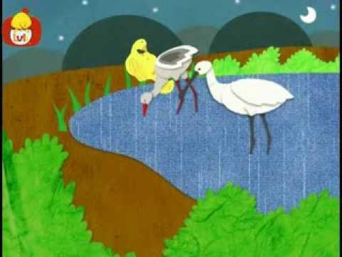 Dobranoc – Jezioro: kaczka i bocian, dla dzieci