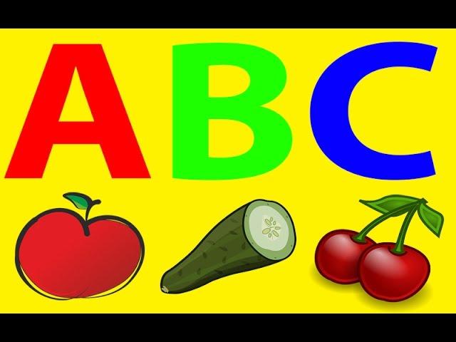 Alfabet po Polsku dla Dzieci – Owoce – Warzywa – Żywność – Nauka Literek