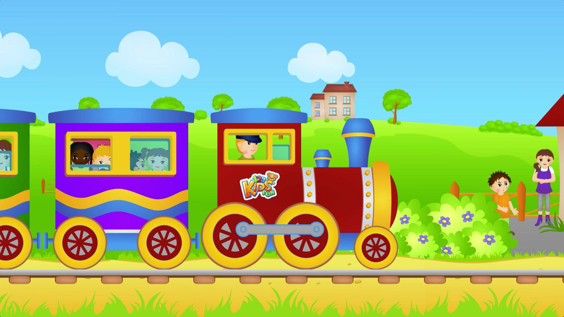 Piosenki dla dzieci – Jedzie pociąg z daleka – RosNutki