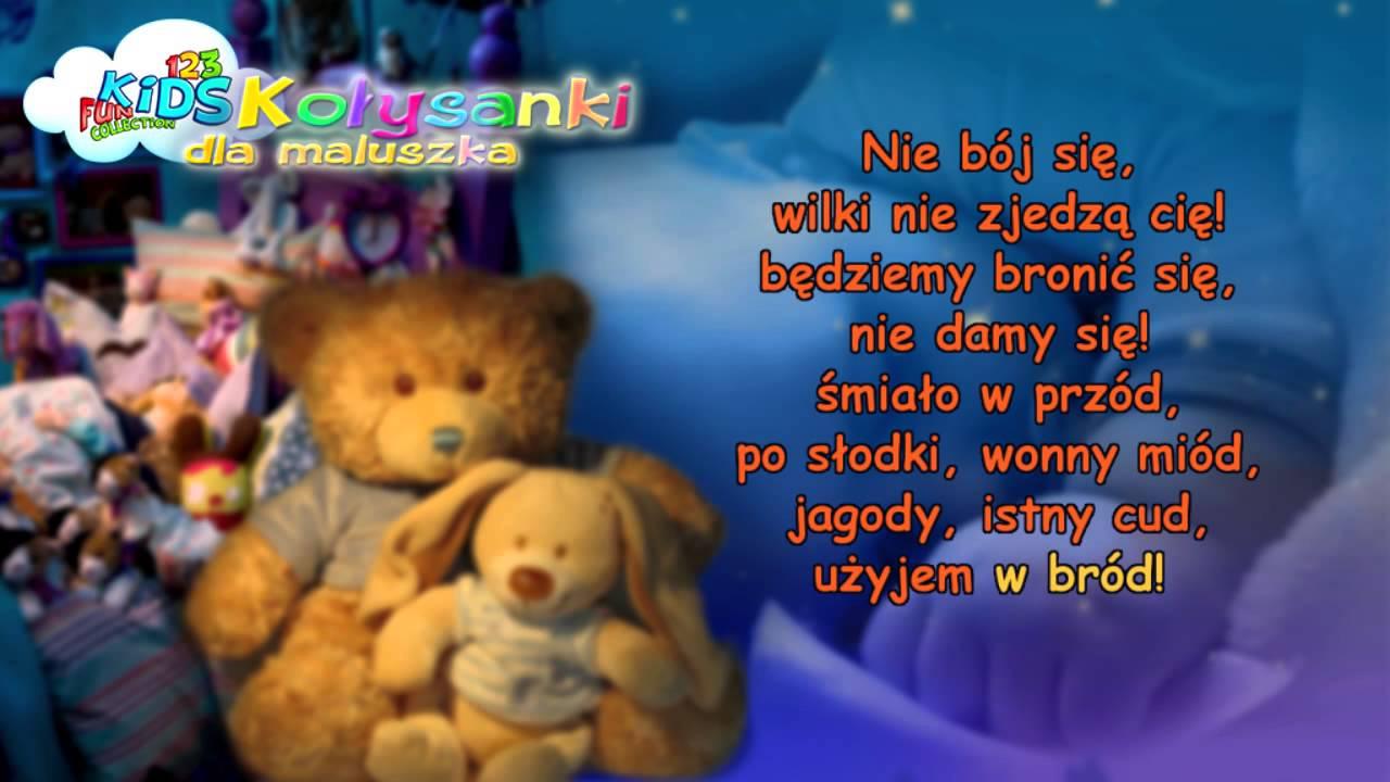 Pluszowe niedźwiadki – Kołysanki dla Dzieci + tekst (karaoke) – polskie