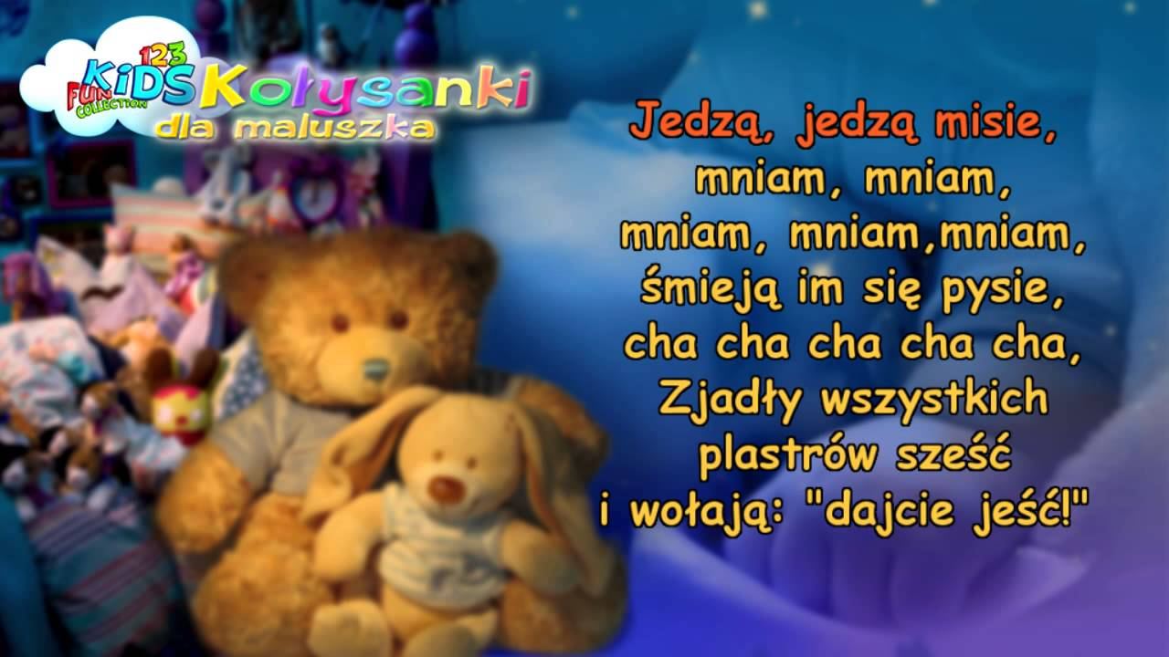 Jadą Jadą Misie – Kołysanki dla Dzieci + tekst (karaoke) – polskie