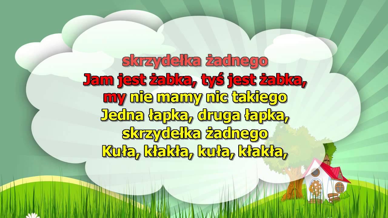 Karaoke dla dzieci – Żabki – z wokalem