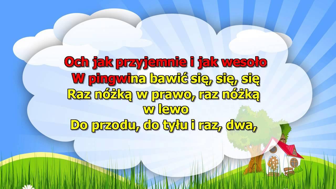 Karaoke dla dzieci – Pingwin – z wokalem