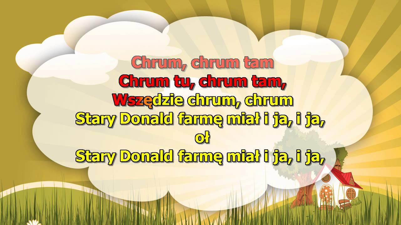 Karaoke dla dzieci – Stary donald farmę miał – z wokalem