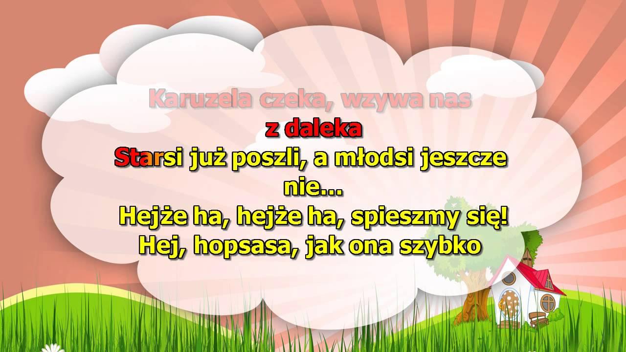 Karaoke dla dzieci – Karuzela – z wokalem